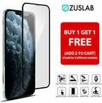 Buy 1 Get 1 Free - iPhone 11 Pro XS Max XR X 8 7 6 S Plus ZUSLAB Tempered Glass Screen Protector $7.95 Delivered @ Protec eBay