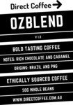 Free OzBlend Sample (50g) + Free Shipping @ Direct Coffee