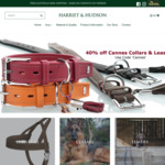 40% off Hunter Cowhide Nappa Leather Cannes Collars and Leashes - Includes Free Shipping @ Harriet & Hudson - FINISHES TODAY!