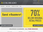 70% of Colorado Clothing Online + Free Delivery
