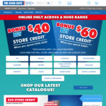 Spend $240-$359/$360+ Receive $40/$60 Store Credit @ The Good Guys (Online Only)
