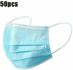 50x 3-Ply Disposable Face Masks US$15.69 / A$22.28 Delivered (CN) @ Banggood