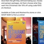 10% off TCN Restaurant, Pub & Bar, Pamper and Cinema Gift Card @ The Card Network