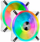 Corsair White QL120 RGB Fan 3-Pack $119 (Sold Out), White QL140 RGB Fan 2-Pack $111 + Free Delivery @ Amazon AU