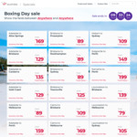 Virgin Australia Boxing Day Sale: Syd <> GC $79, Syd <> Bris $89, Mel to Nwctle $85, Per to MEL $169 and More @ Virgin Australia