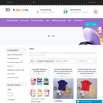 Buy Any 2 Baby/Kids Clothing & Accessories, Get up to 70% off | $20 off & Free Post with $70 Spend for New Account @ BabyBunny