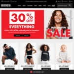 30% off Everything + Extra 10% off Reduced Price for Members + Free Shipping @ Bonds