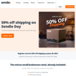 Pre-Register Now for 50% off Shipping on Sendle Day (30th June 2021), $10 Discount Cap, Max Savings $250 @ Sendle