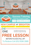[VIC] Free One Hour Lesson (Normally $55/$65 Per Hour) for New Student at Success Tutoring Bayside, Brighton