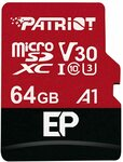 Patriot EP V30 MicroSD Card 64GB $10.50, 128GB $21, 256GB $40, 512GB $85 + Post ($0 Prime/ $39 Spend) @ Patriot Memory Amazon AU