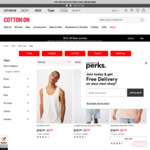 Mens Tops from $4 after 20% off Coupon (RRP $20) + $7 Delivery (Free with $60 Spend) @ Cotton on
