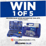 Win 1 of 5 Mechpro Blue 147pce Automotive Tool Kits Worth $299 from Repco