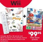 Wii Play + Wii Remote + Mario & Sonic at the Olympic Games $99.95 (RRP $179.90)