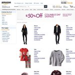 Amazon Columbus Day Savings: up to 25% - 50% off Clothing & up to 60% off Shoes