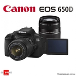 ShoppingSquare AU $758.95 Canon EOS 650D Kit 18-55mm IS & 55-250mm IS II Digital SLR $99 Postage