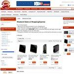 Buffalo 2TB External Drive $79, NetGear R6300 $137*after $50 CashBack, D6300 $259, DGND4000 $159