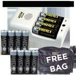Maha Powerex MH-C204W Charger 4x 2400 4x 2700mah Bag Bundle AU$59.95 RRP AU$96.80  exc postage