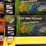 3.6volt mini lithium garden trimmer $10 200watt multi tool mech choice $10 Coles Coolum