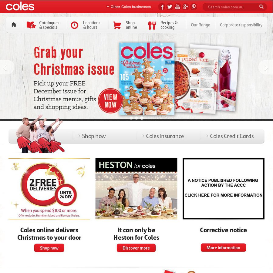 Coles christmas gift ideas catalogue shopping