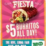$5 Burritos All Day @ Mad Mex Erina Fair NSW