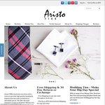 20% off & Free Shipping on Ties, Skinny Ties, Bow Ties & Pocket Squares @ Aristo TIES