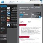 AmEx Velocity Platinum Card 50,000 Bonus Velocity Points - $349 Annual Fee