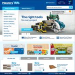 Masters Online 10% off Using Code PETROL10 Excludes Appliances (Expires May 17th 2015)