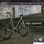 40% off All District Bicycle Co. Fixie/Single Speed Bicycles. 2 days only. Free Shipping