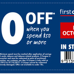 $10 off First Choice Liquor with $50 Min Spend Instore Only