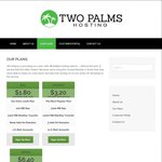 80% off Shared Web Hosting with Two Palms Host - Plans from 30c (A$0.42)/Mth, Paid Annually