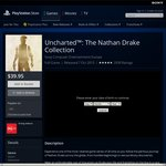 Uncharted: The Nathan Drake Collection PS4 (AU PSN) Now $39.95