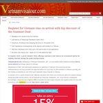 15% off Online Vietnam Visa Applications @ Vietnam Visa Tour
