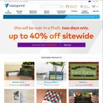 Vistaprint up to 40% off Sitewide