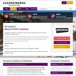10% Cashback on Groupon Sitewide @ Cashrewards