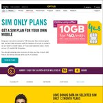 Optus 12 Months Sim Only Plan for $40/Month: 10GB Data, Unlimited Local Calls and SMS