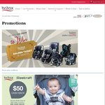 $75 and $50 Cash Back on Steelcraft Strollers - PB&C Expo Melbourne