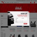 Sale (50% off) @ PUMA + 15% Extra for First Time Purchase after Newsletter Subscription (Appears on Main Page)