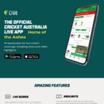 Free Streaming on Cricket Australia Live App - iOS