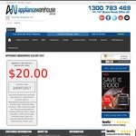 Save $20.00 with Any Purchase over $300.00 @ The Appliance Warehouse