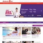 Kuala Lumpur from Perth $160, Brisbane $344 One Way with Malindo