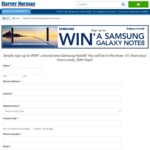 Win a Samsung Galaxy Note8 with Bonus Wireless Charger Worth $1,499 from Harvey Norman