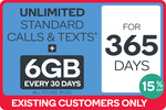 Kogan Mobile Yearly Unlimited Renewal: Medium Plan (6GB) $254 or Small Plan (1.5GB) $162 for Existing Customers