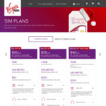 Virgin Mobile 15GB of Data for $32 Per Month on 12 Months SIM Only Plan