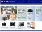 $100-150 Cashback on Olympus PEN DSL-R Cameras