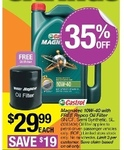 Castrol Magnatec 10W-40 with Free Repco Oil Filter $29.99 + 20% off Regular Price (Auto Club Members) @ Repco