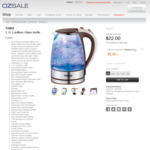 TODO 1.7l Cordless Glass Kettle for $22 Delivered @ OzSale
