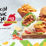 $12 Tropical Classic Burger, Wrap or Pita Plus Regular Side @ Nando's ($2.50 Extra for Water or Regular Drink - Excludes SA)