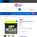 Muscle Pharm Wreckage 25 Serves - 15% OFF $69.95 @ Muscle Market