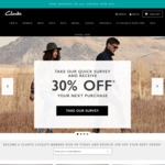 Clarks Shoes - 30% off All Stock