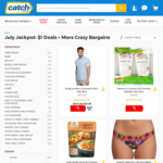 $1 Items (E.G T Shirts, Breakfast Cereal, Snacks + More) + Shipping @ Catch